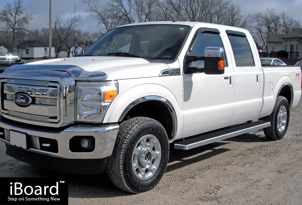 5 iboard running board fit 99 16 ford f 250 f 350 f 450 superduty crew cab ebay. Black Bedroom Furniture Sets. Home Design Ideas