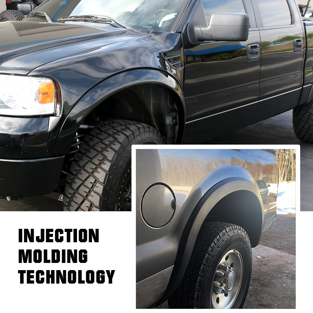 Injection Moulding OE Style Polypropylene Impact Resistance Fender Flare Compatible with Ford F-150 2015-2017